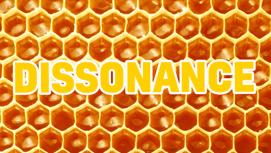 Word on honeycomb background