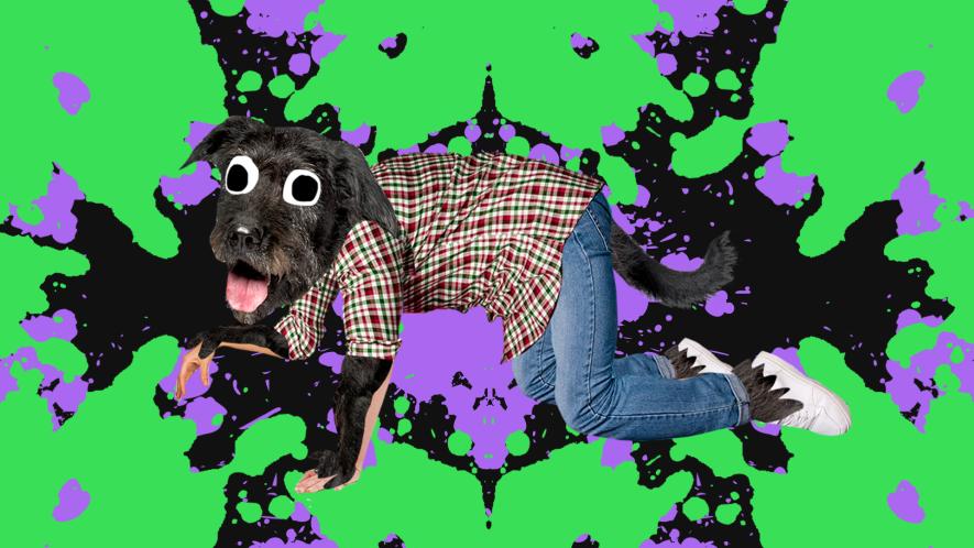Beano werewolf on splat background