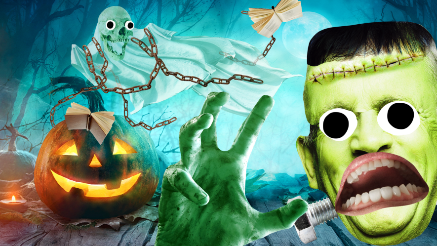 Spooky scene with Beano Halloween monsters