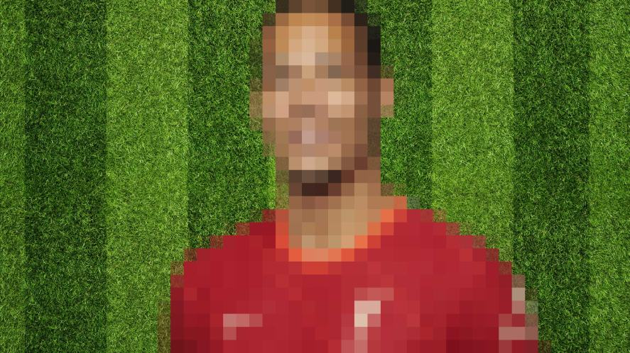 Liverpool blurred player