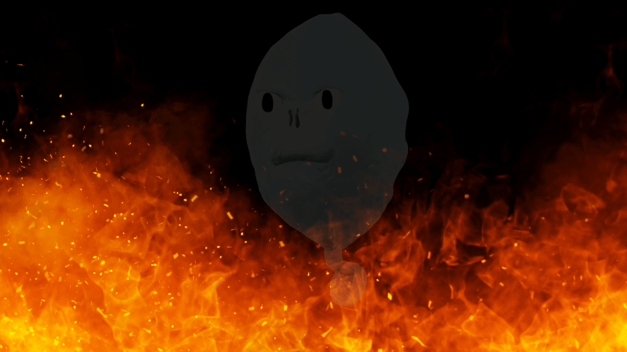Voldemort and a big fire