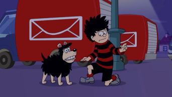 Dennis The Menace and Gnasher in The Gnashinator