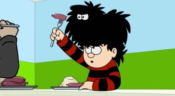 Dennis The Menace and Gnasher in Picture Prefect