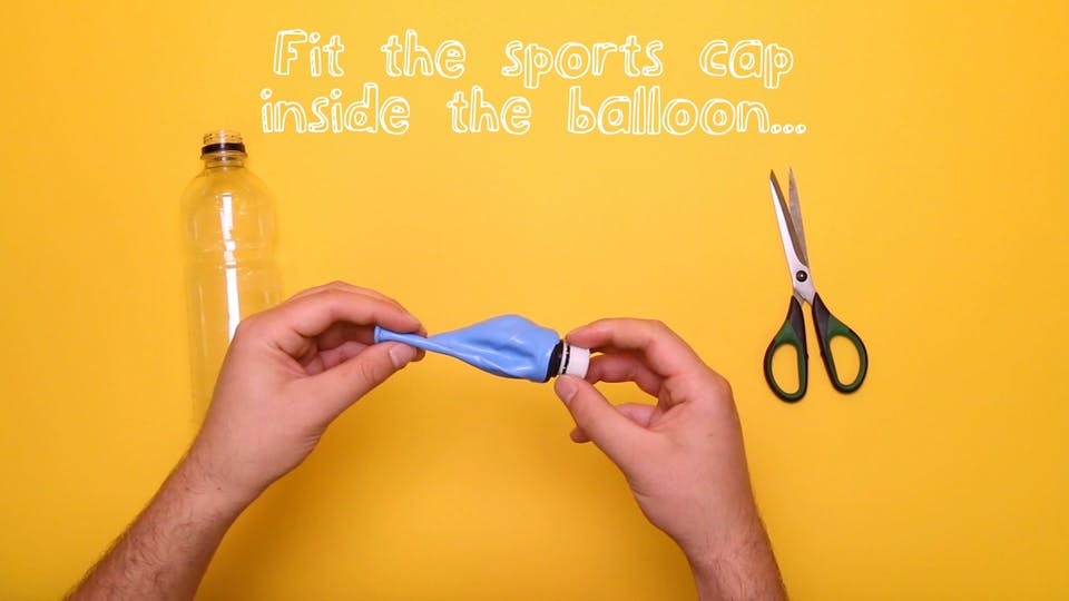 Fit the sports cap inside the hole