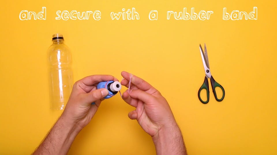 Secure it with a rubber band