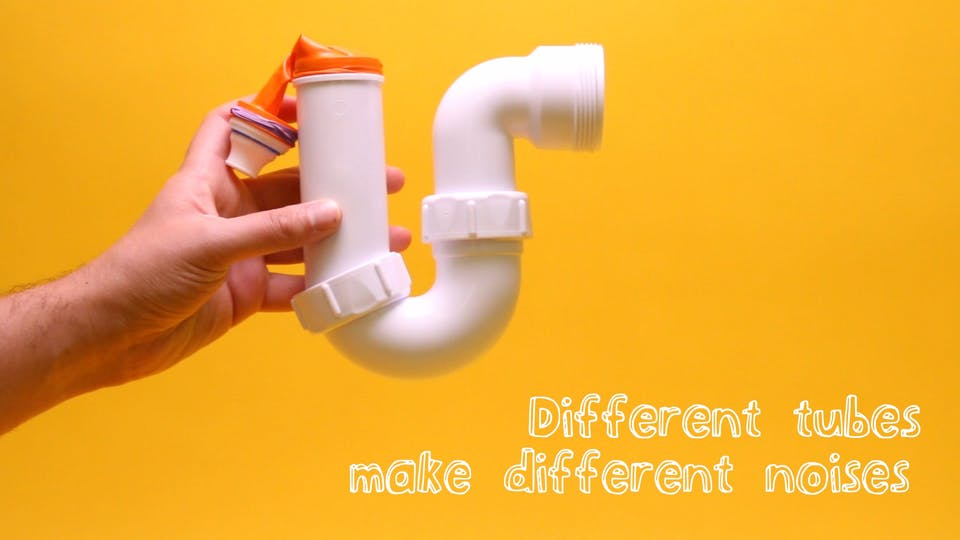 Different tubes make different noises