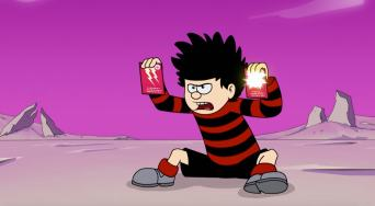 Dennis The Menace and Gnasher in The Omega Menace
