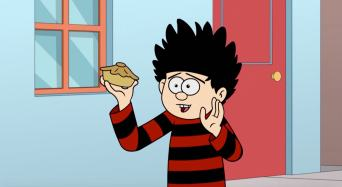 Dennis The Menace and Gnasher in Pie Protectors