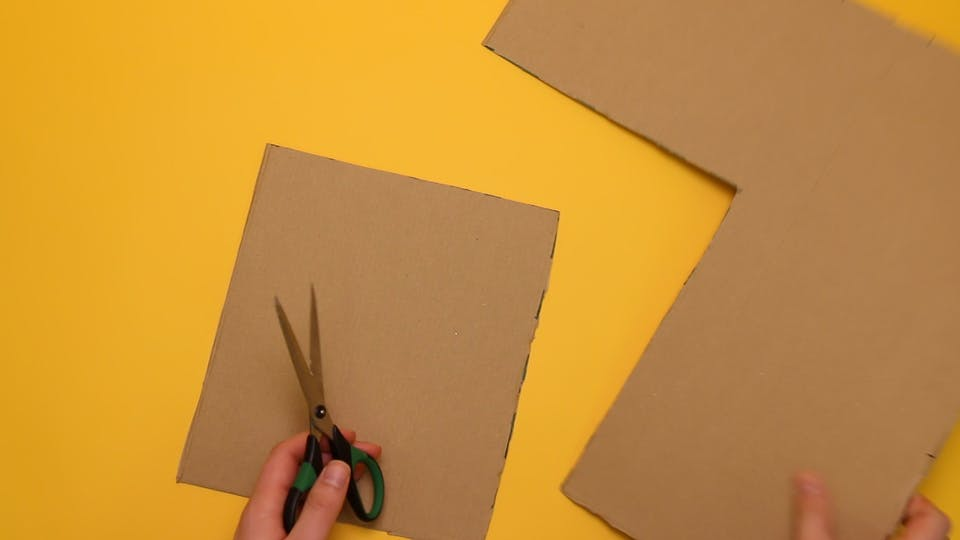 Make a rectangle on the cardboard