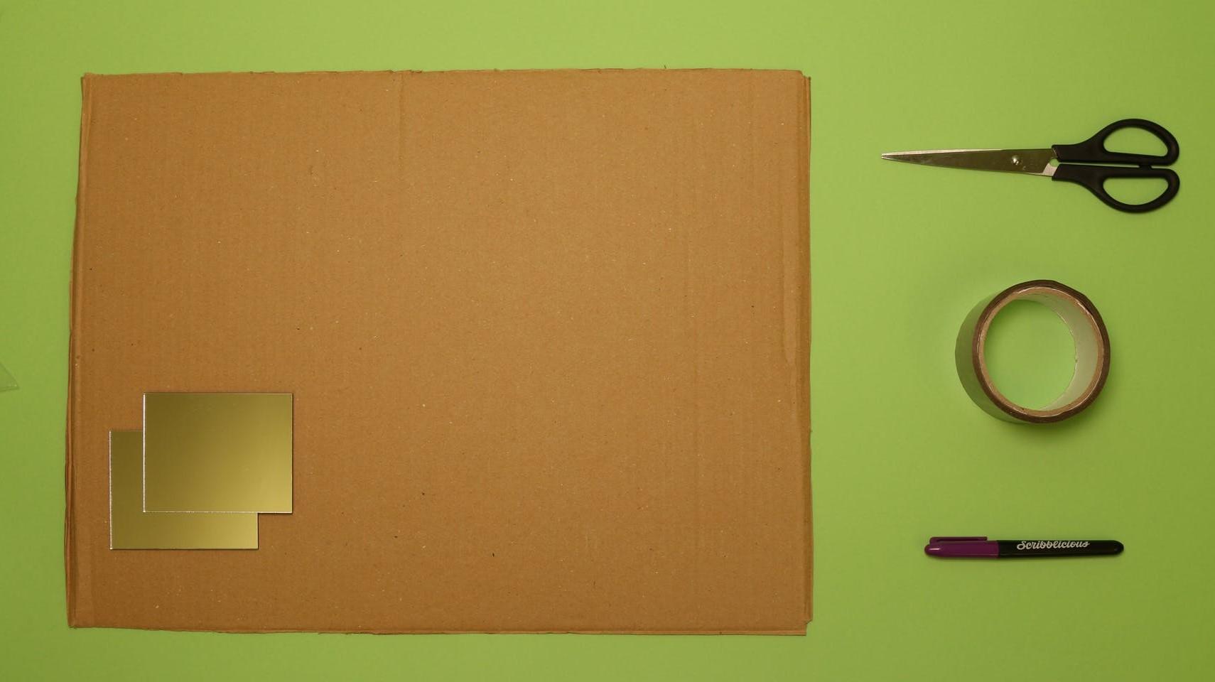 You will need - cardboard, mirrors, scissors, tape, pen