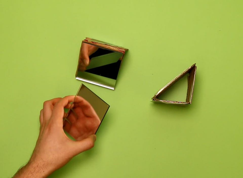 Tape and attach your mirrors