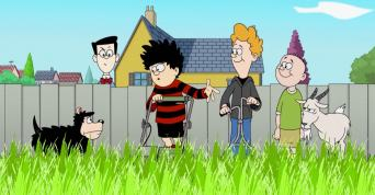 Dennis The Menace and Gnasher in I Fought The Lawn