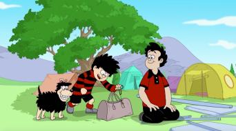 Dennis The Menace and Gnasher in Camp Menace