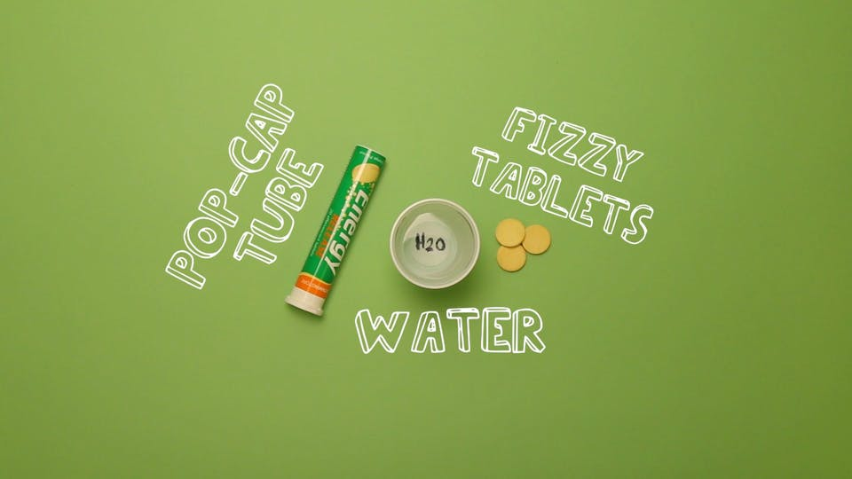 You will need - fizzy tablets, pop-cap tube, water