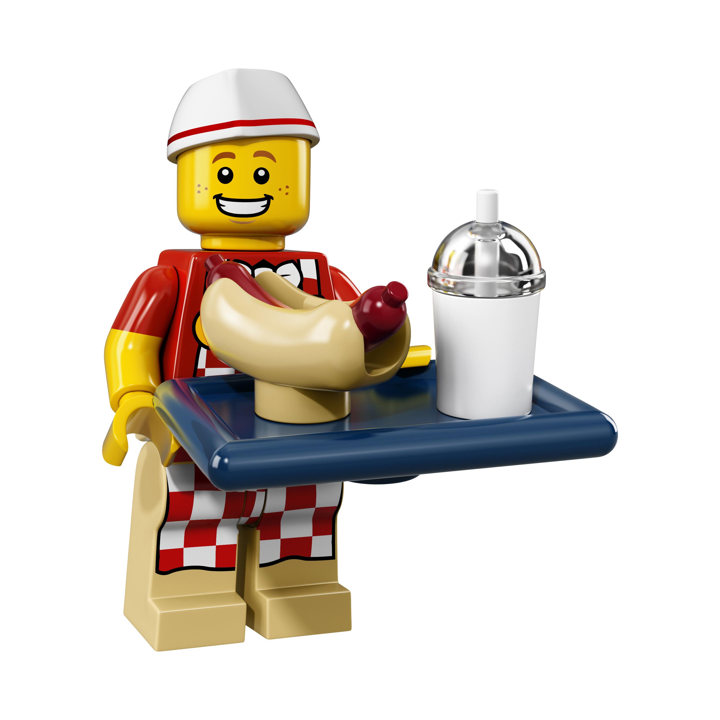LEGO minifgs series 17 Hot Dog Vendor