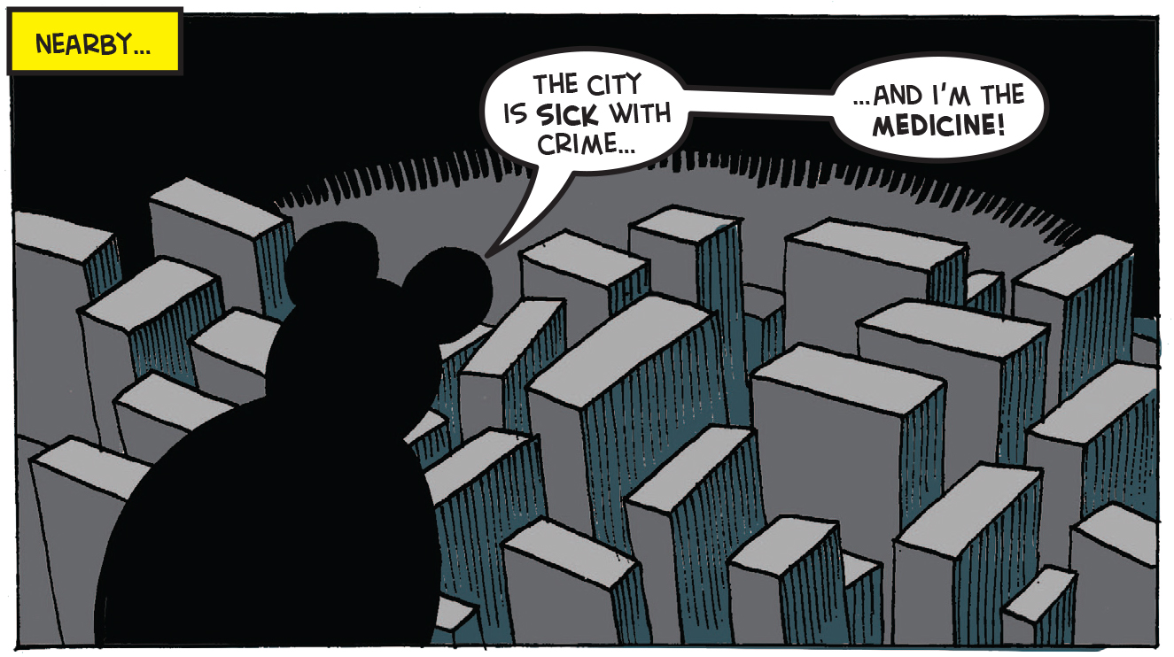 Batmin overlooks the 'city'