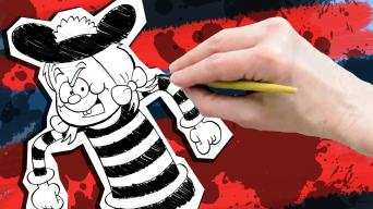 How to draw Minnie the Minx