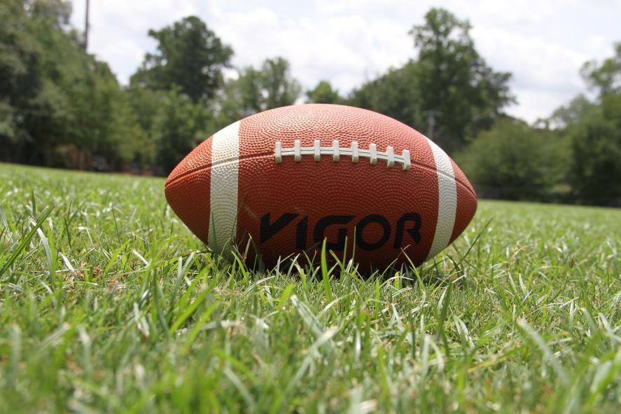 An American football