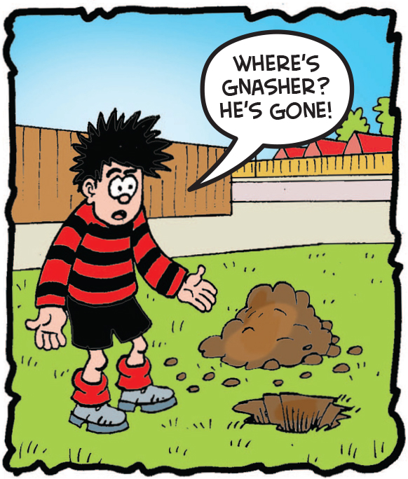 Gnasher disappears