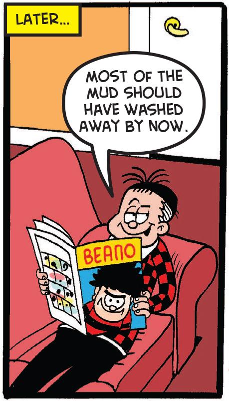 Roger reading the Beano