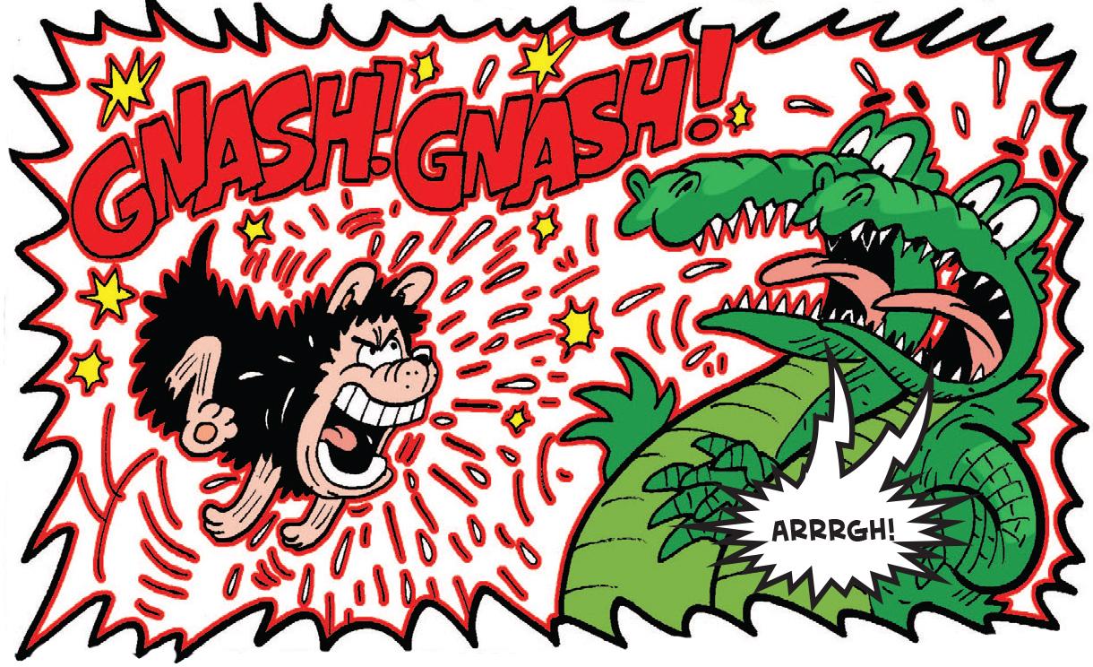 Gnasher scares off gators