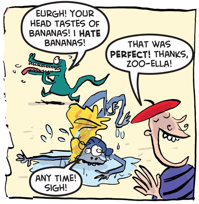 Zoo-Ella gets slobbered on