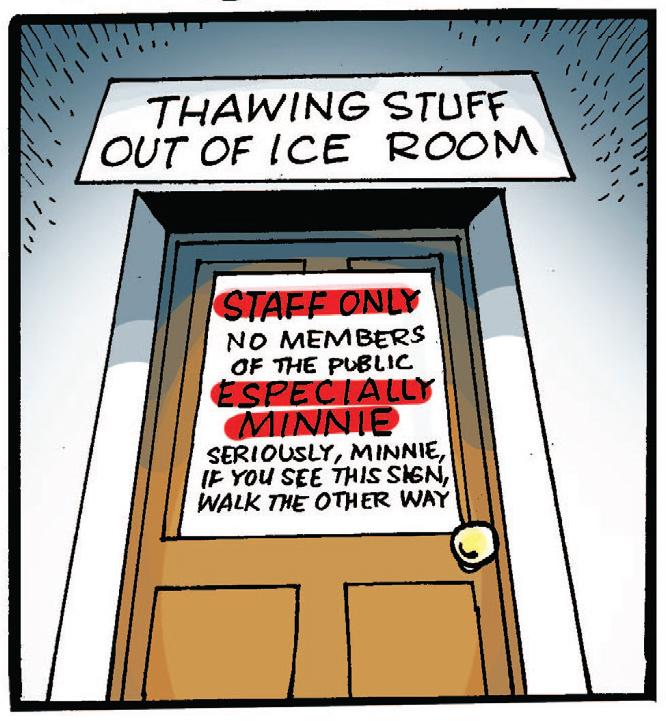 Minnie keep out!