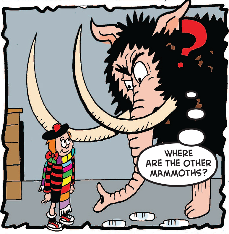Minnie meets the mammoth