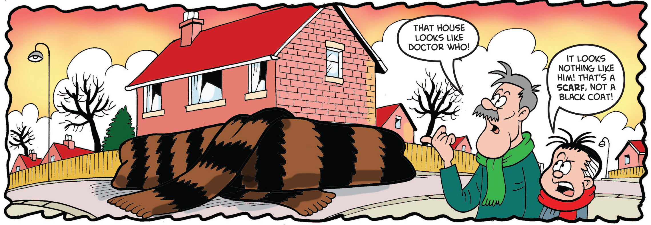 The house is wrapped in a mammoth-hair scarf
