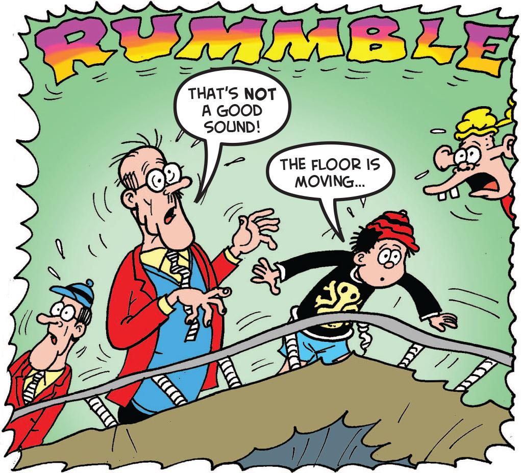 The floor rumbles