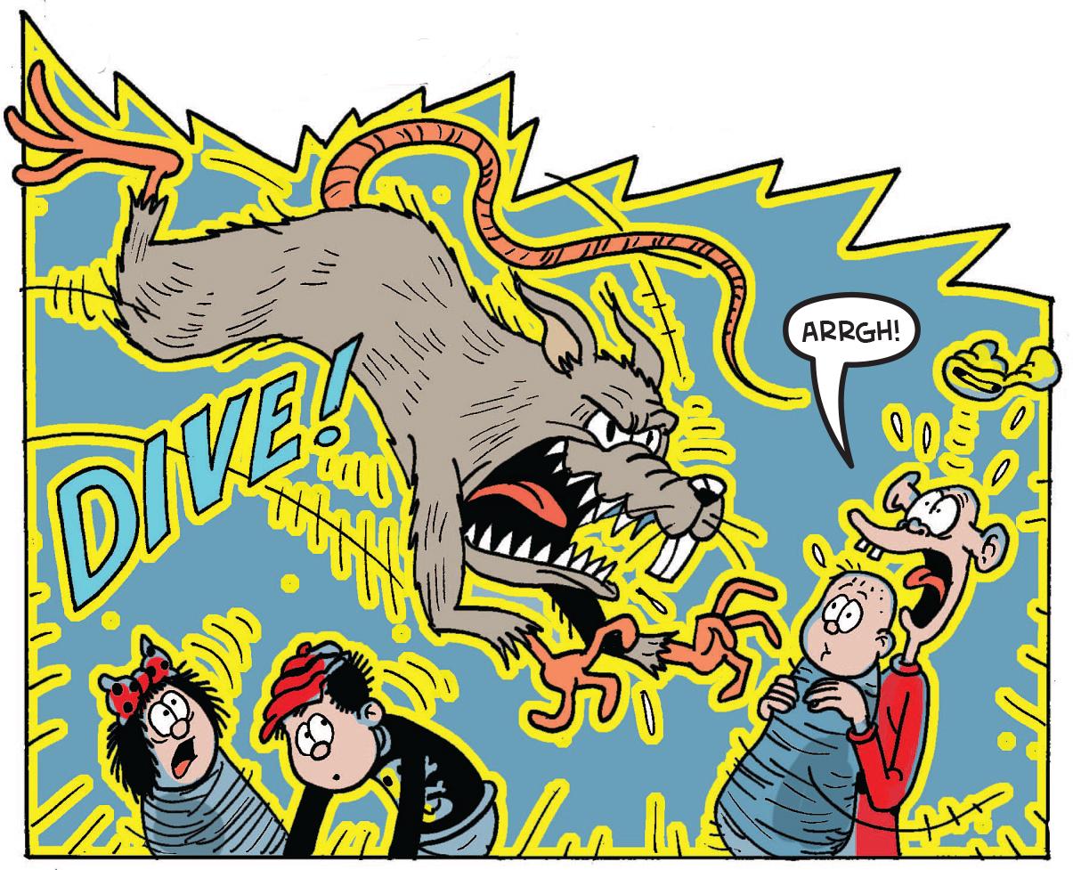 The rat attacks