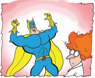 Bananaman and the scientist