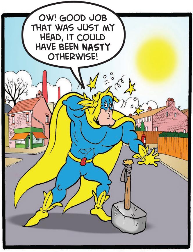 Bananaman with the hammer