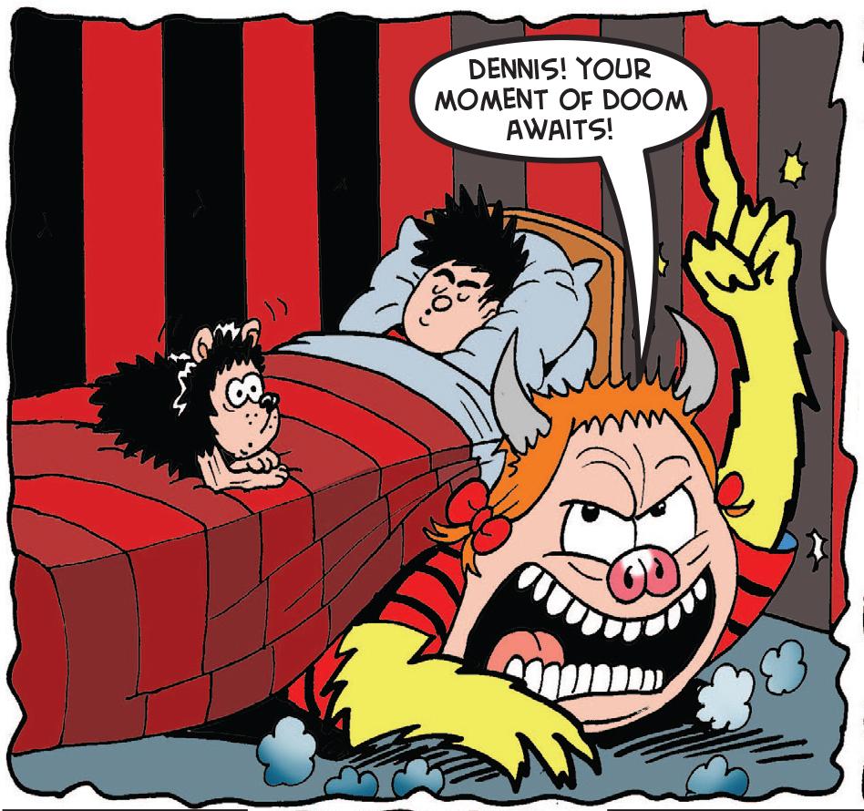 Minnie has to scare Dennis