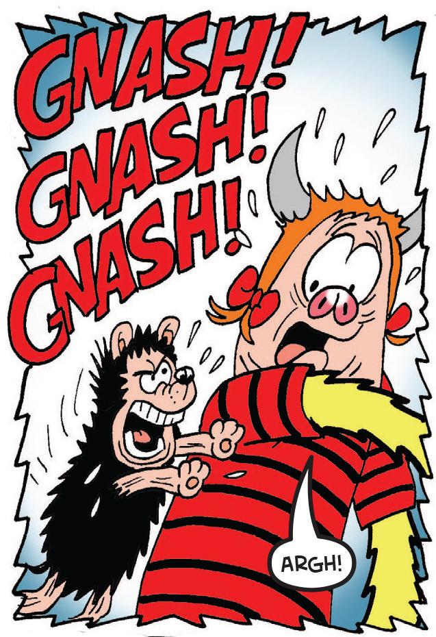 Gnasher attacks Minnie