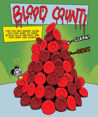 Help Brainy count the blood cells