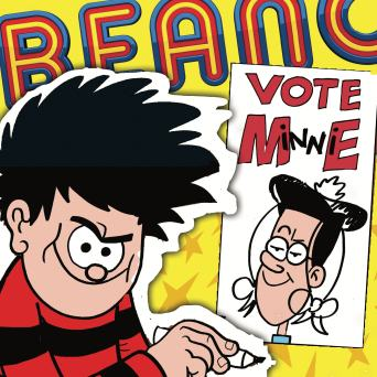 Dennis the Menace, Beano 3888, Bash Street School, Election, Minnie the Minx