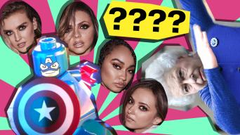quiz of the week lego marvel, little mix, queen