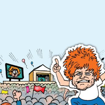 Ed Sheeran at BeanoFest, Beano's Glastonbury