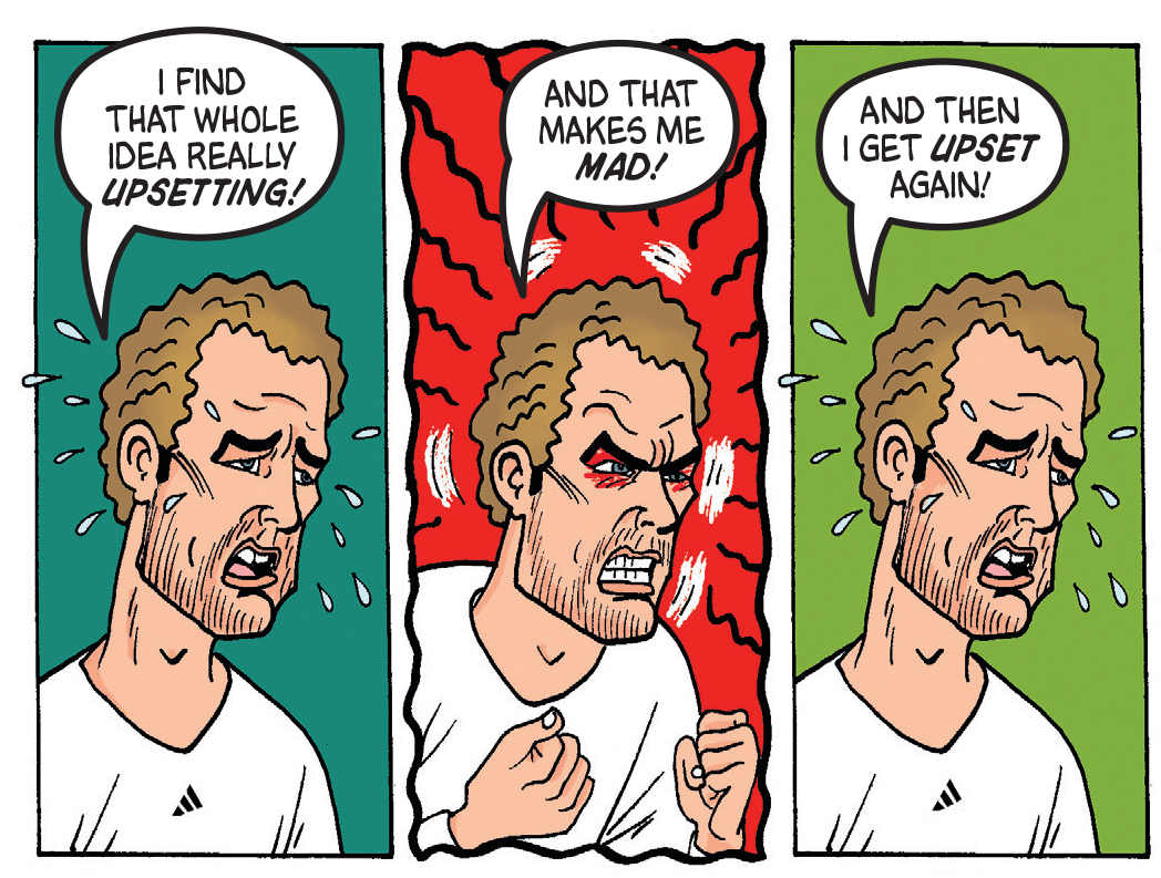 Dennis the Menace and Andy Murray at Wimbledon
