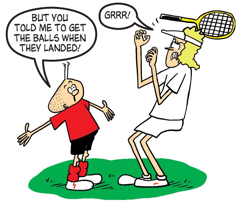 Billy Whizz as a tennis ball boy? It wouldn't happen at Wimbledon...