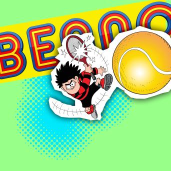 Beano 8th July 2017 cover, tennis, Wimbledon, Dennis the Menace