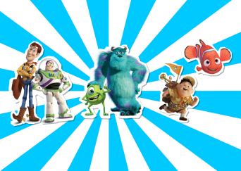 Pixar films Toy Story Monsters Inc Finding Nemo and Up