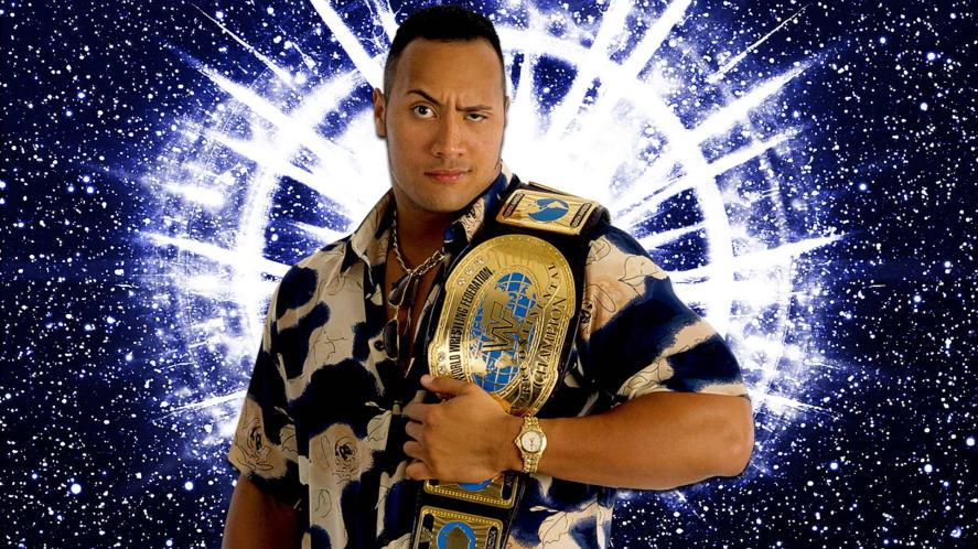 The Rock when he wasn't as massive as he is now