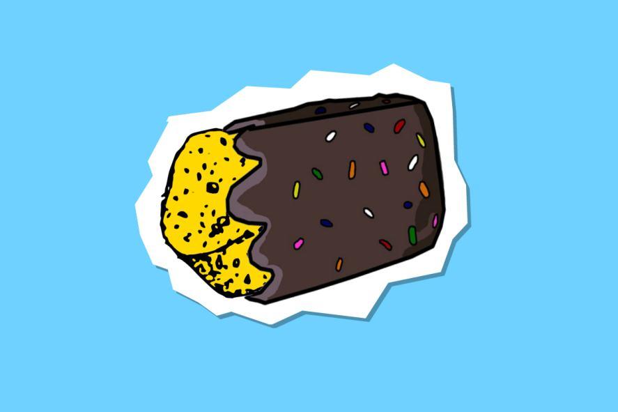 Chocolate-covered sponge