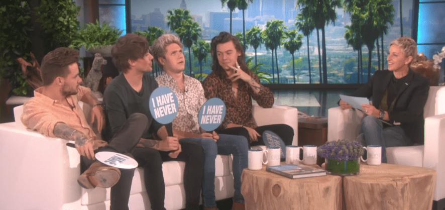 One Direction the TV show Ellen
