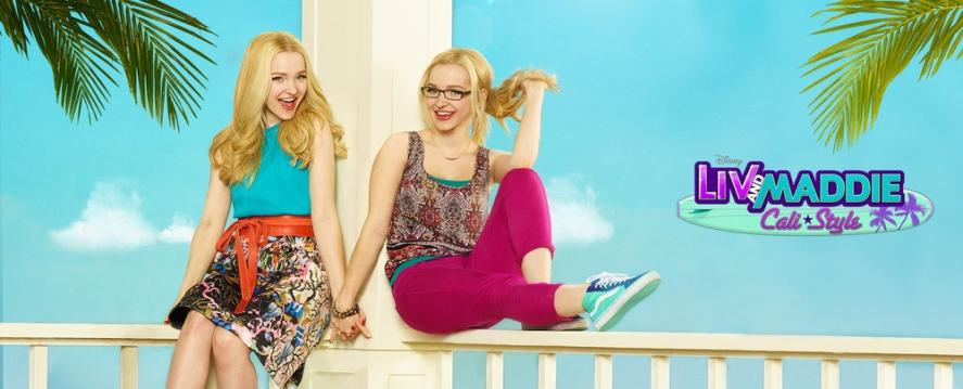 Liv and Maddie chilling outside