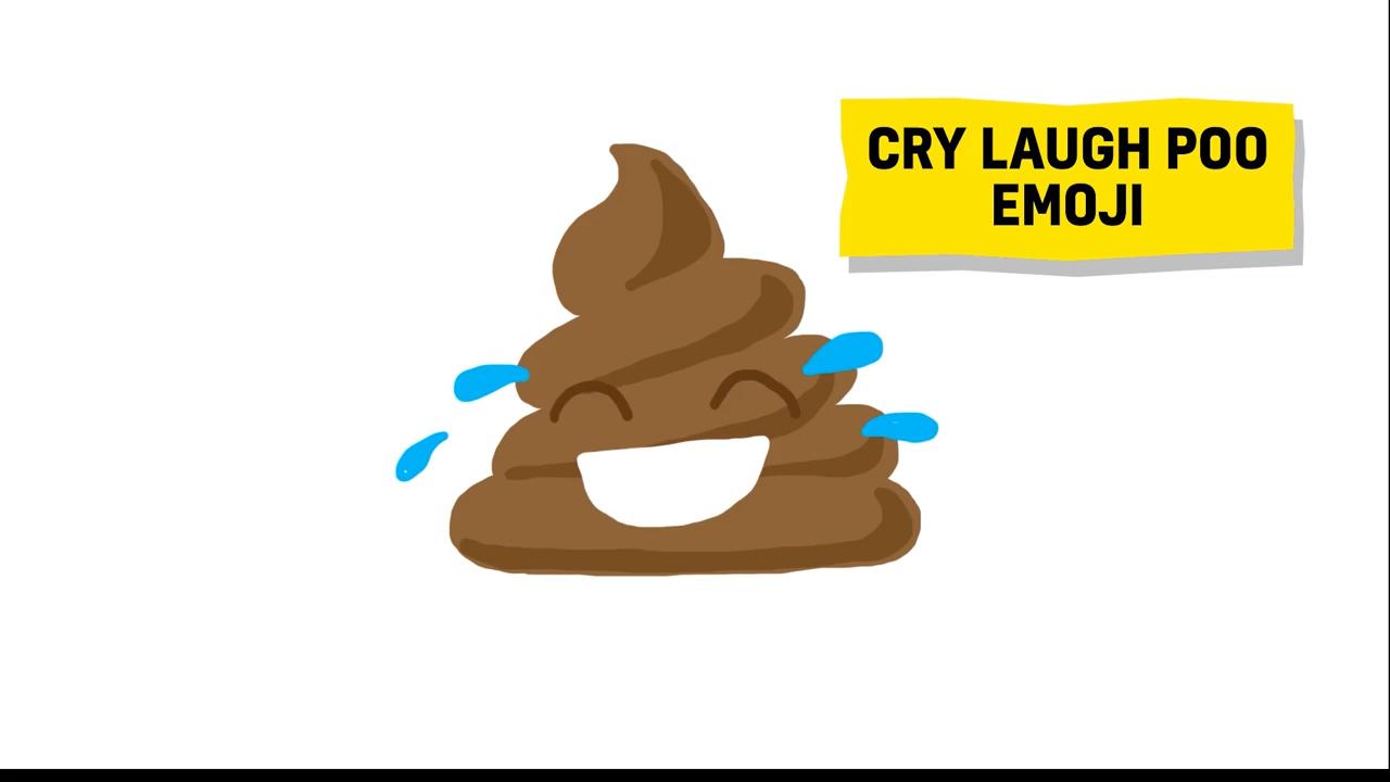cry laugh poo emoji