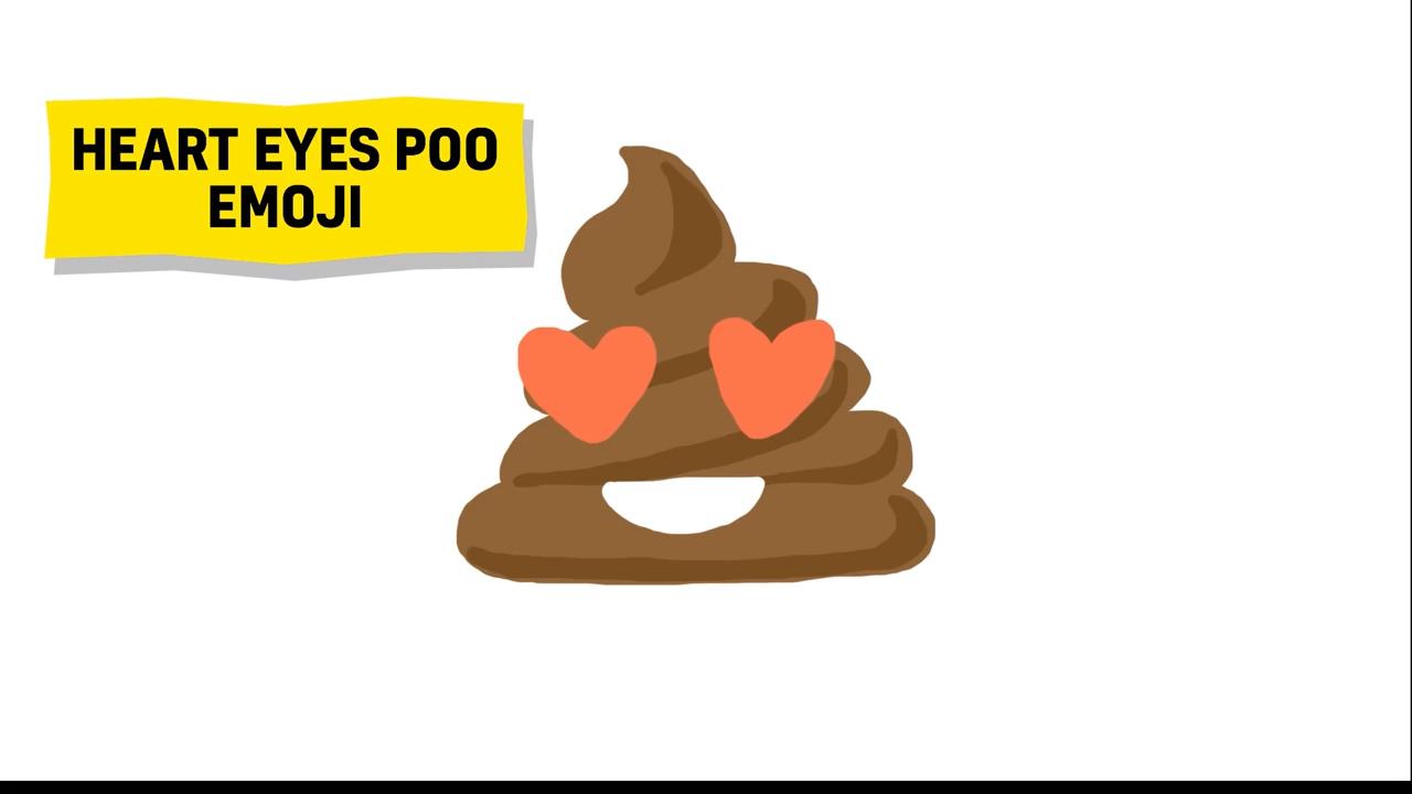 heart eyes poo emoji
