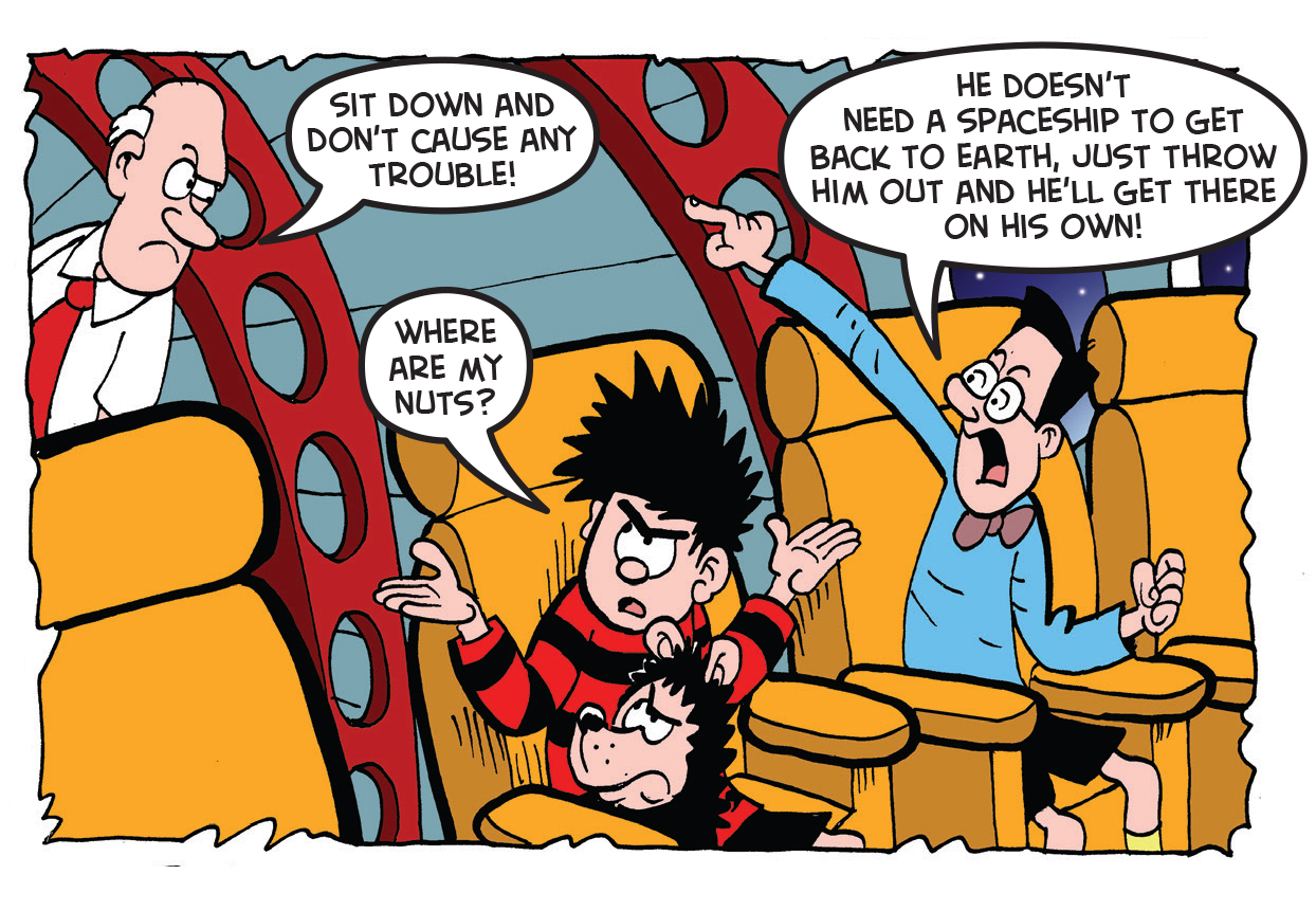 Dennis the Menace lost in space